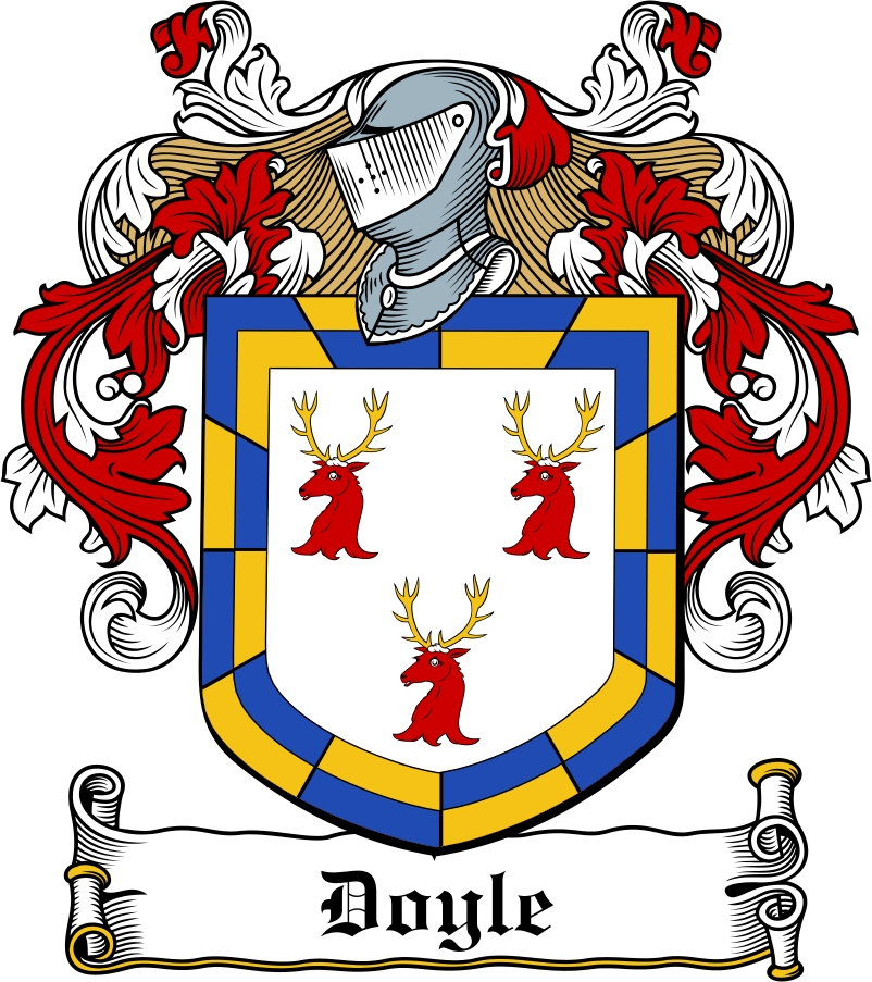 Thumbnail Doyle Family Crest / Irish Coat of Arms Image Download
