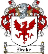 Thumbnail Drake Family Crest / Irish Coat of Arms Image Download
