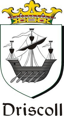 Thumbnail Driscoll Family Crest / Irish Coat of Arms Image Download