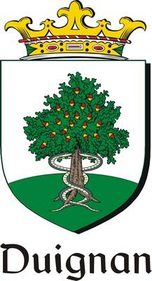 Thumbnail Duignan Family Crest / Irish Coat of Arms Image Download