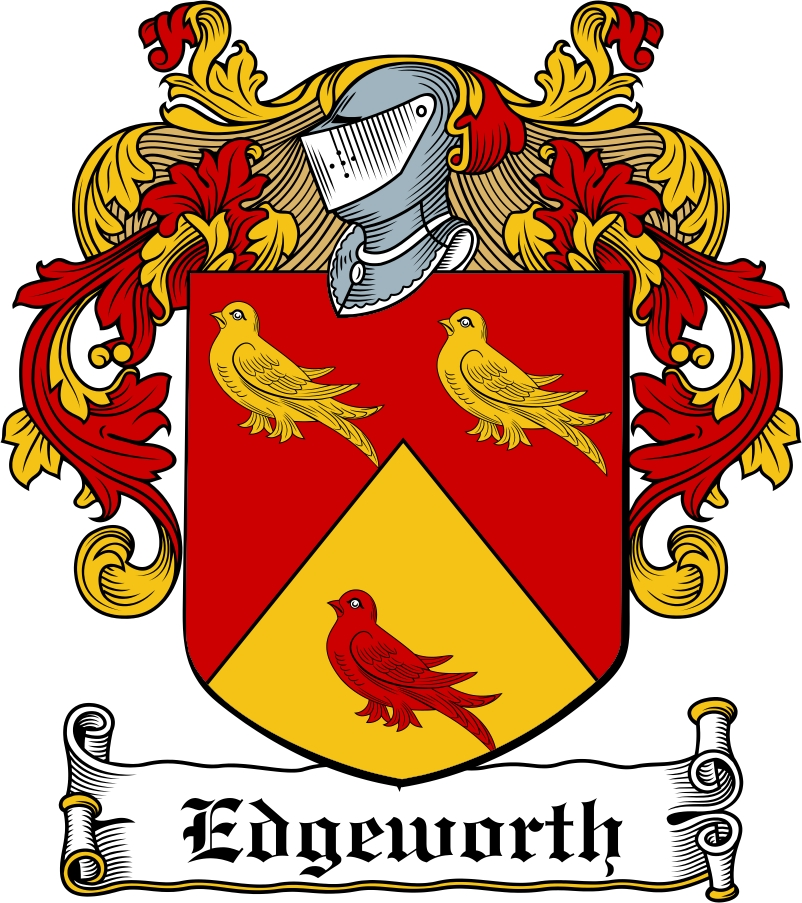 Thumbnail Edgeworth Family Crest / Irish Coat of Arms Image Download