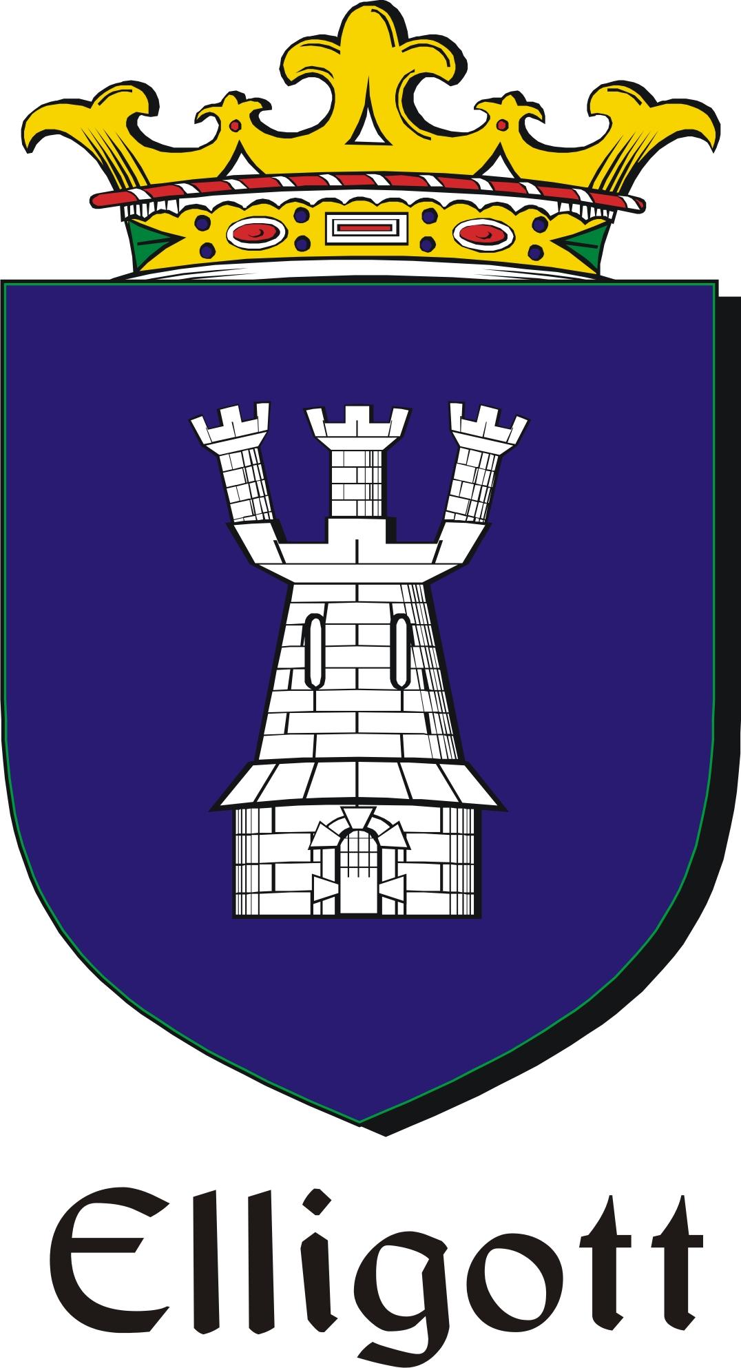 Thumbnail Elligott Family Crest / Irish Coat of Arms Image Download