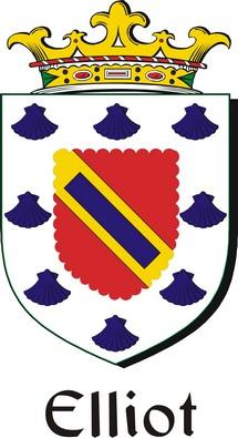 Thumbnail Elliot Family Crest / Irish Coat of Arms Image Download