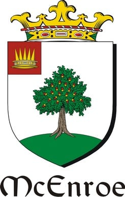 Thumbnail Enroe-Mc Family Crest / Irish Coat of Arms Image Download