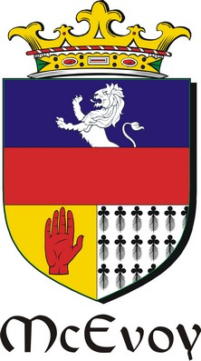 Thumbnail Evoy-Mc Family Crest / Irish Coat of Arms Image Download