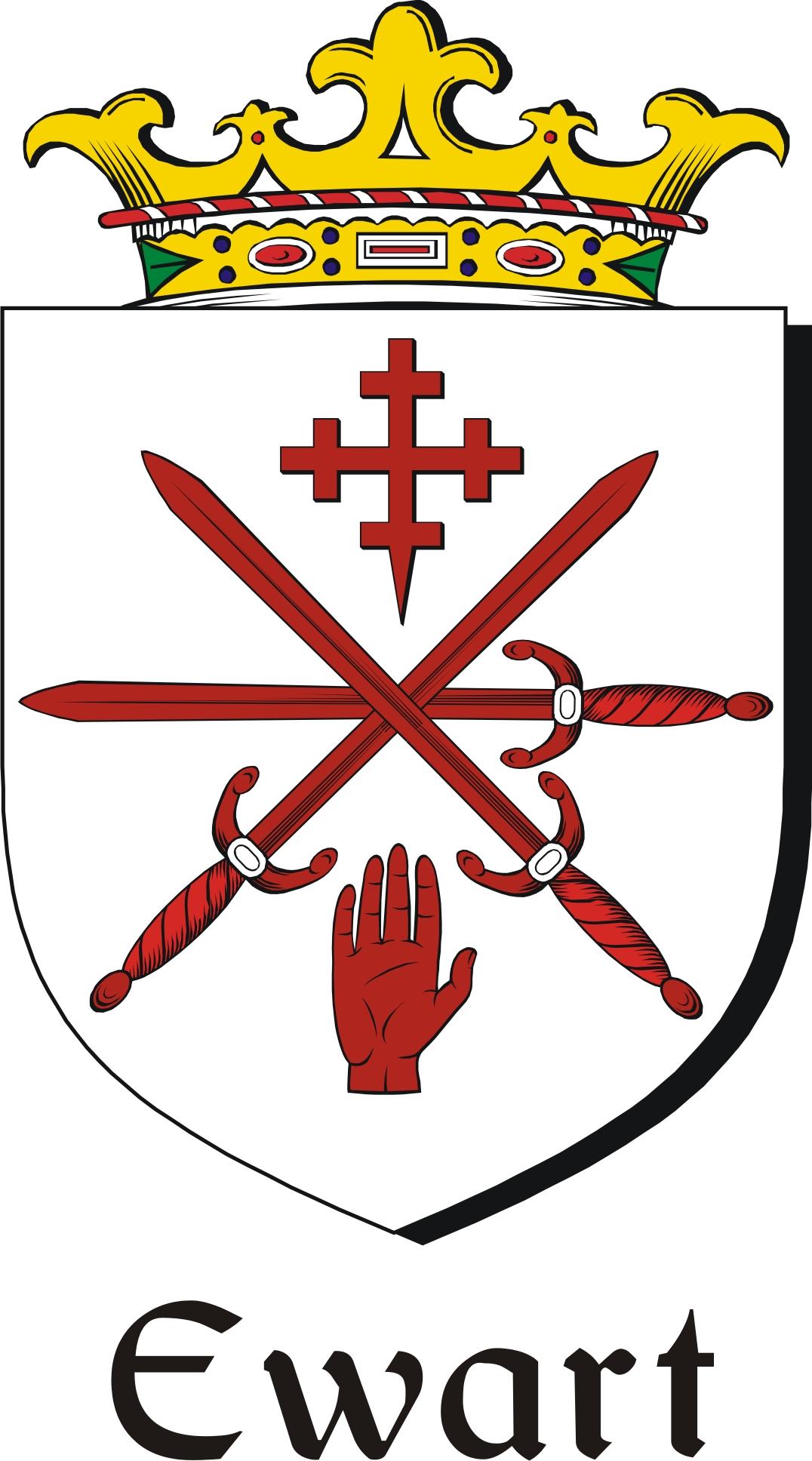 Thumbnail Ewart Family Crest / Irish Coat of Arms Image Download