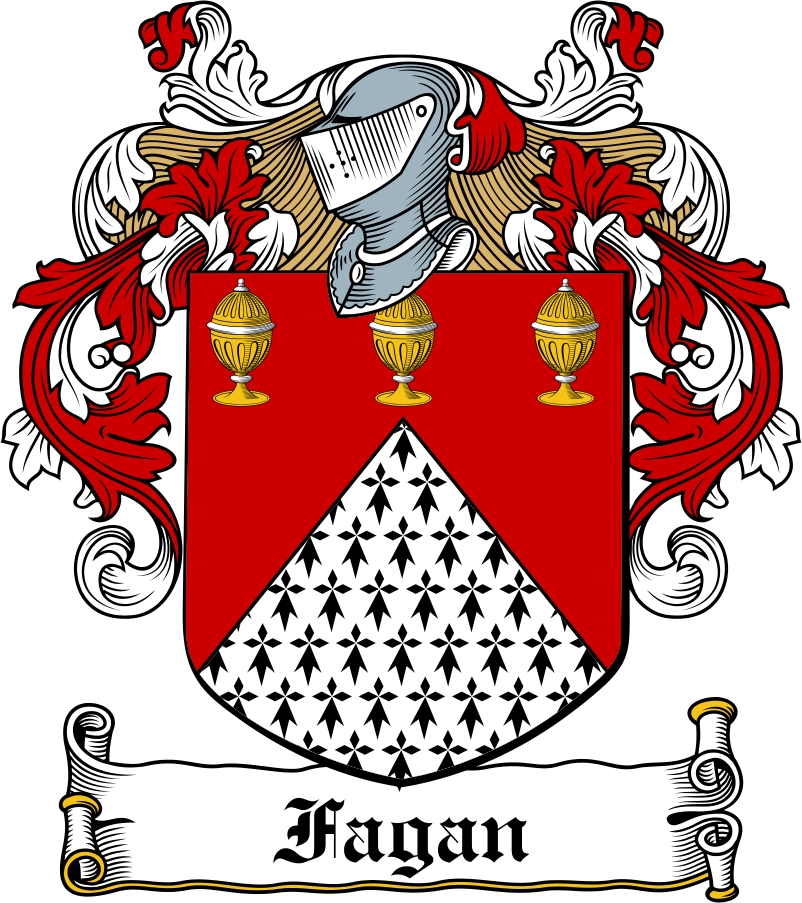 Thumbnail Fagan Family Crest / Irish Coat of Arms Image Download