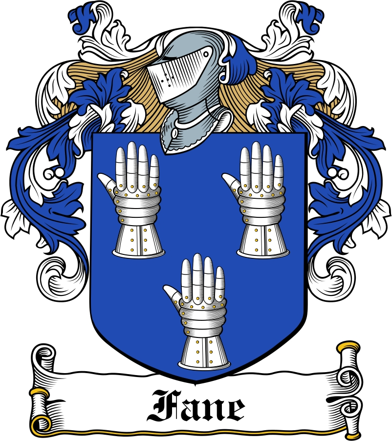 Thumbnail Fane Family Crest / Irish Coat of Arms Image Download