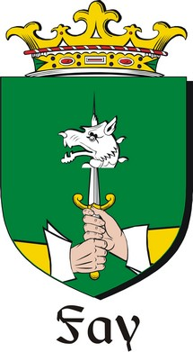 Thumbnail Fay Family Crest / Irish Coat of Arms Image Download