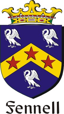 Thumbnail Fennell Family Crest / Irish Coat of Arms Image Download