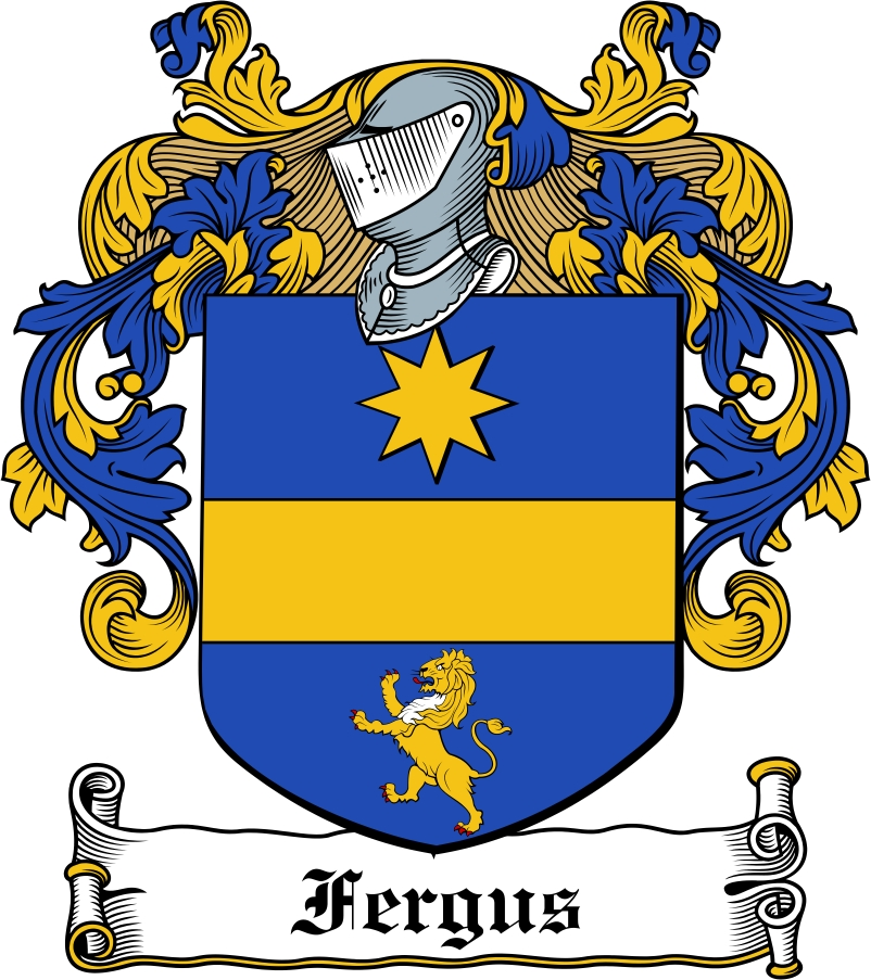 Thumbnail Fergus Family Crest / Irish Coat of Arms Image Download