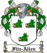 Thumbnail Fitz-Allen Family Crest / Irish Coat of Arms Image Download