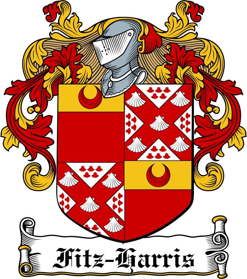 Thumbnail Fitz-Harris Family Crest / Irish Coat of Arms Image Download