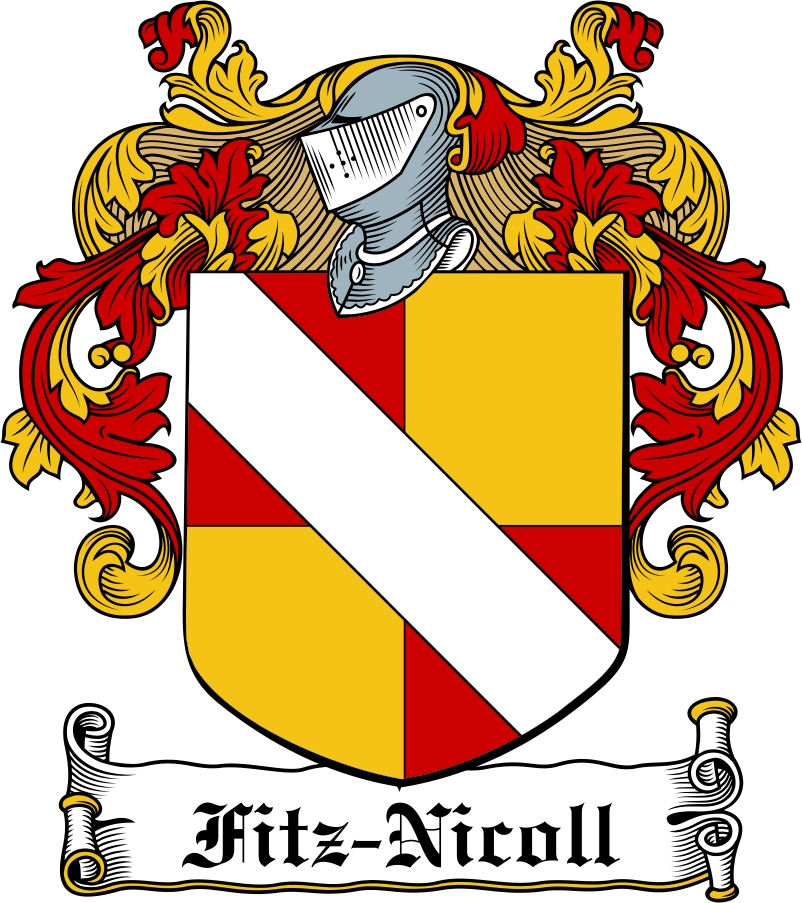 Thumbnail Fitz-Nicoll Family Crest / Irish Coat of Arms Image Download