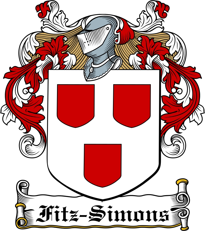 Thumbnail Fitz-Simons Family Crest / Irish Coat of Arms Image Download