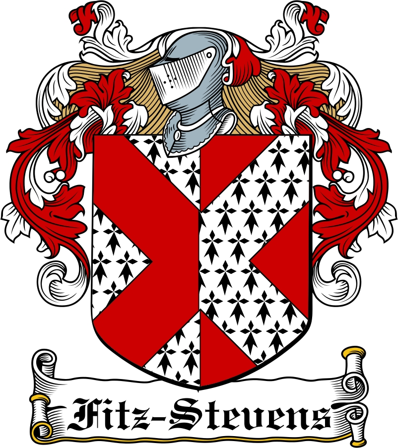 Thumbnail Fitz-Stevens Family Crest / Irish Coat of Arms Image Download
