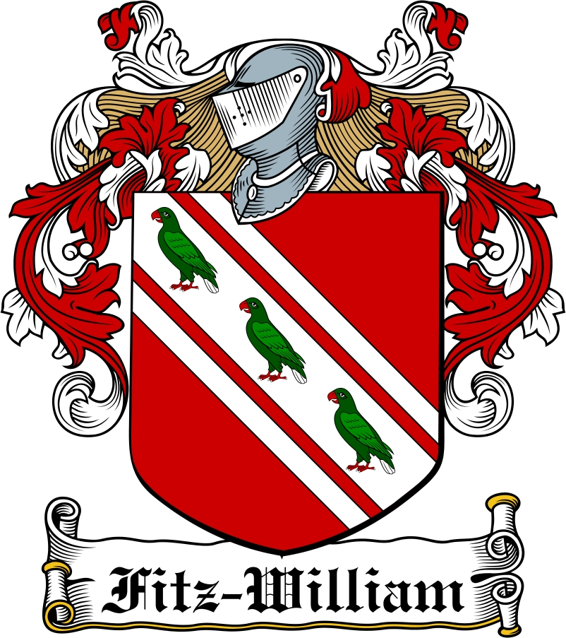 Thumbnail Fitz-William Family Crest / Irish Coat of Arms Image Download