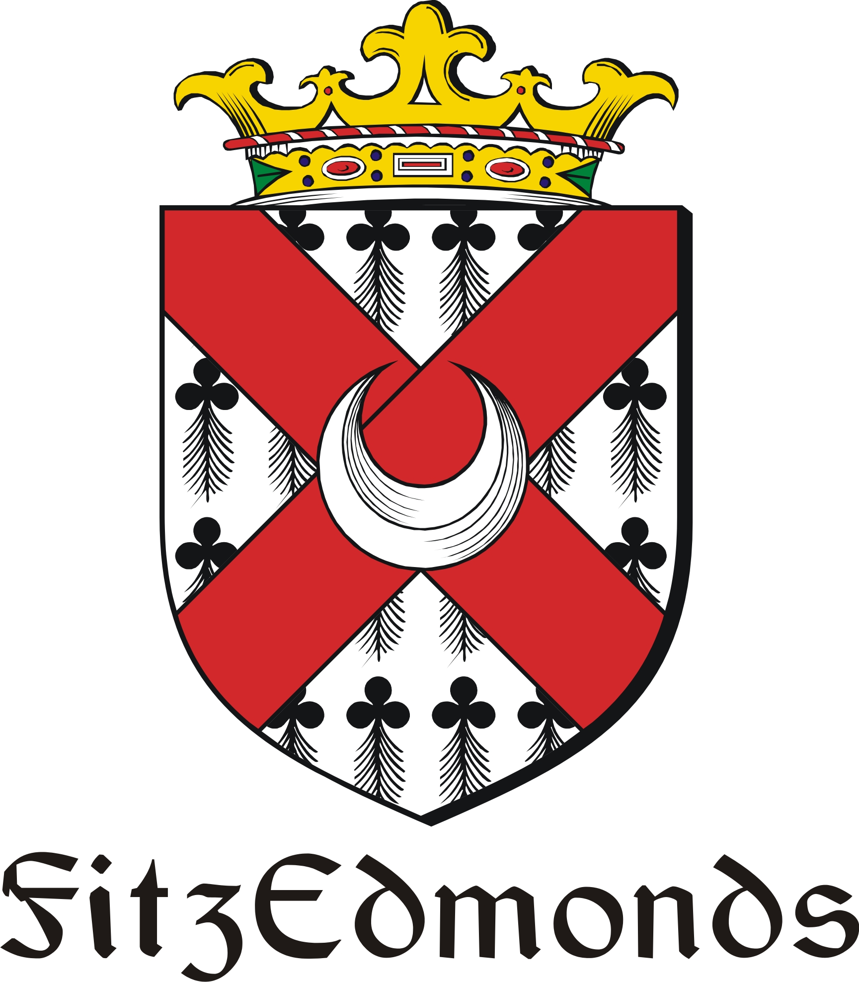 Thumbnail FitzEdmonds Family Crest / Irish Coat of Arms Image Download