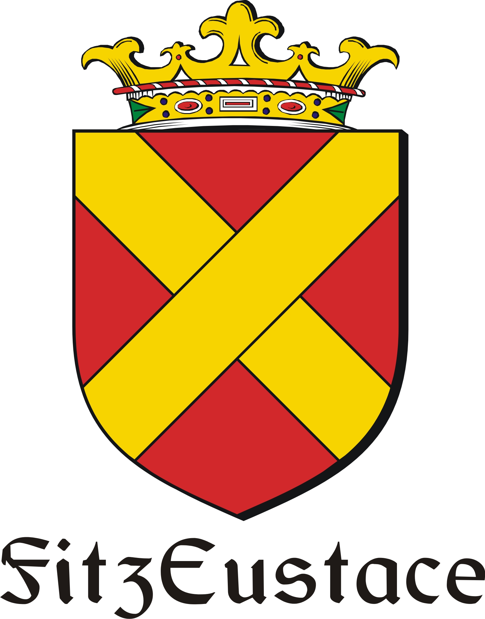Thumbnail FitzEustace Family Crest / Irish Coat of Arms Image Download