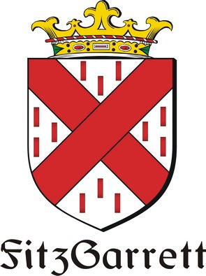 Thumbnail FitzGarrett Family Crest / Irish Coat of Arms Image Download