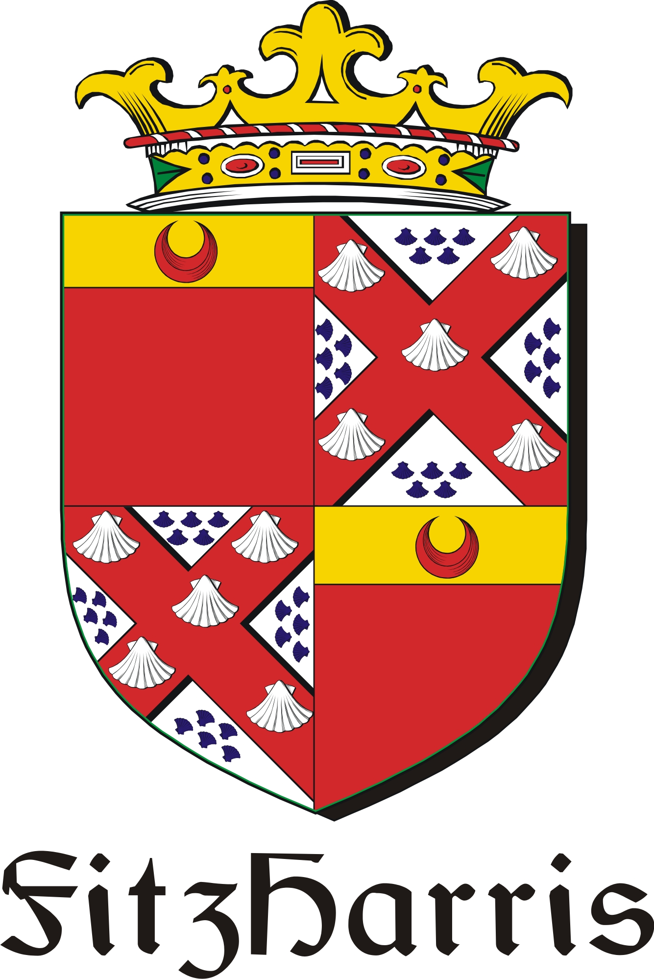 Thumbnail FitzHarris Family Crest / Irish Coat of Arms Image Download