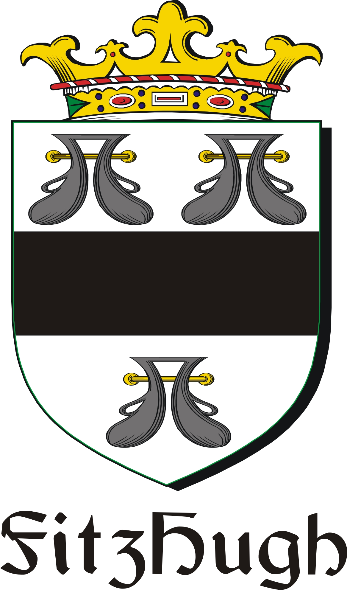 Thumbnail FitzHugh Family Crest / Irish Coat of Arms Image Download