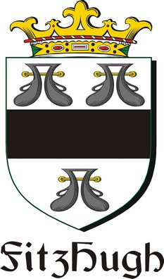 Thumbnail FitzHugh Family Crest / Irish Coat of Arms Image Download