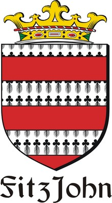 Thumbnail FitzJohn Family Crest / Irish Coat of Arms Image Download