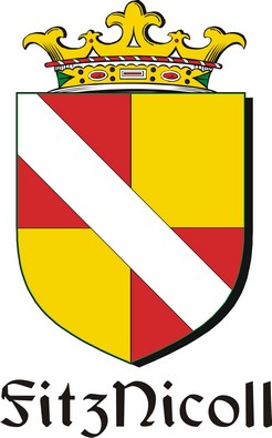 Thumbnail FitzNicoll Family Crest / Irish Coat of Arms Image Download