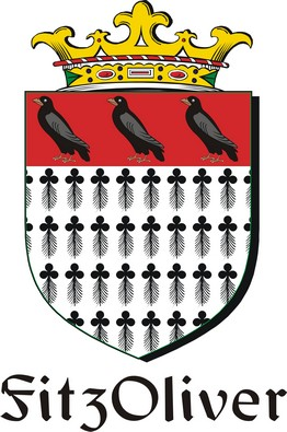 Thumbnail FitzOliver Family Crest / Irish Coat of Arms Image Download