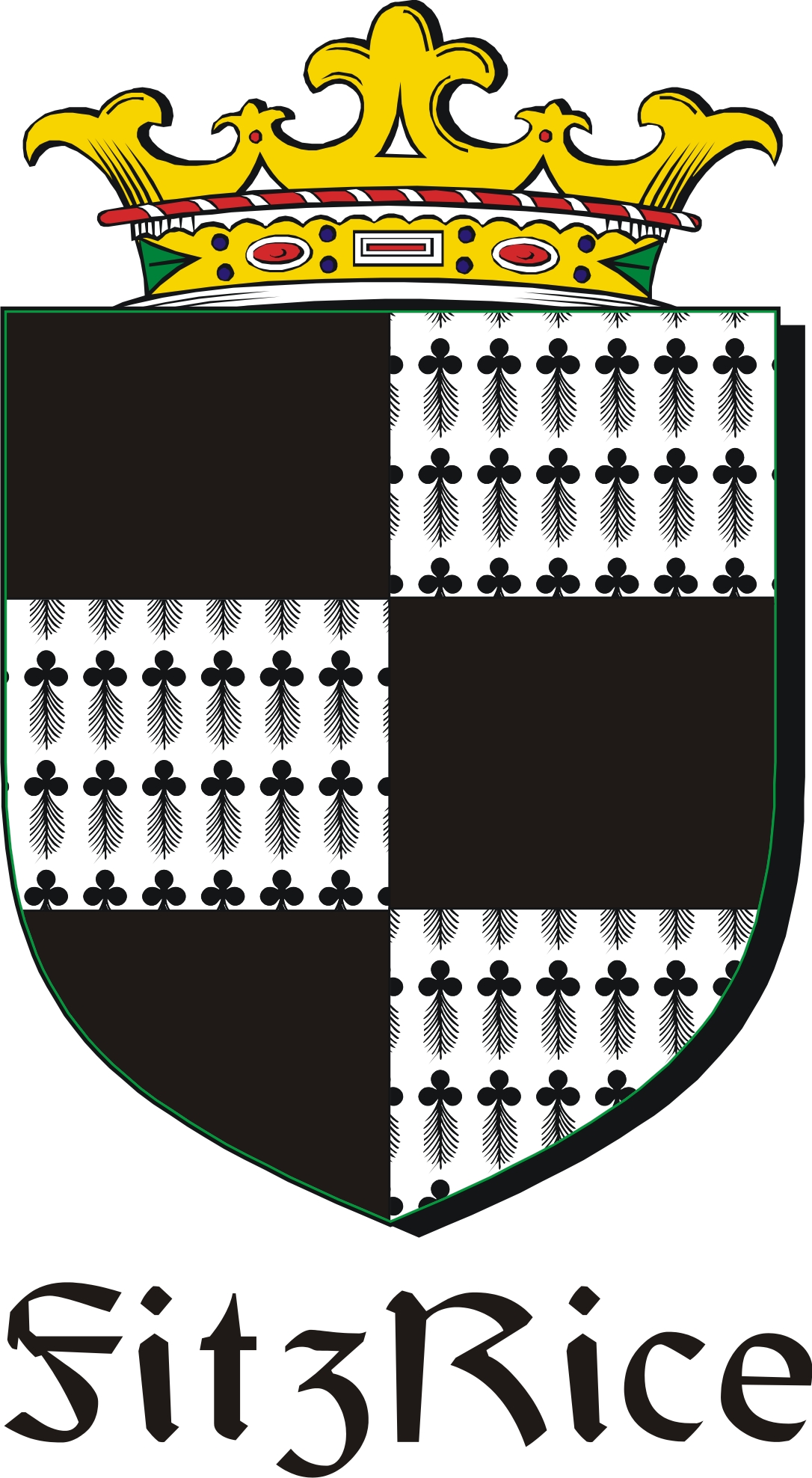 Thumbnail FitzRice Family Crest / Irish Coat of Arms Image Download