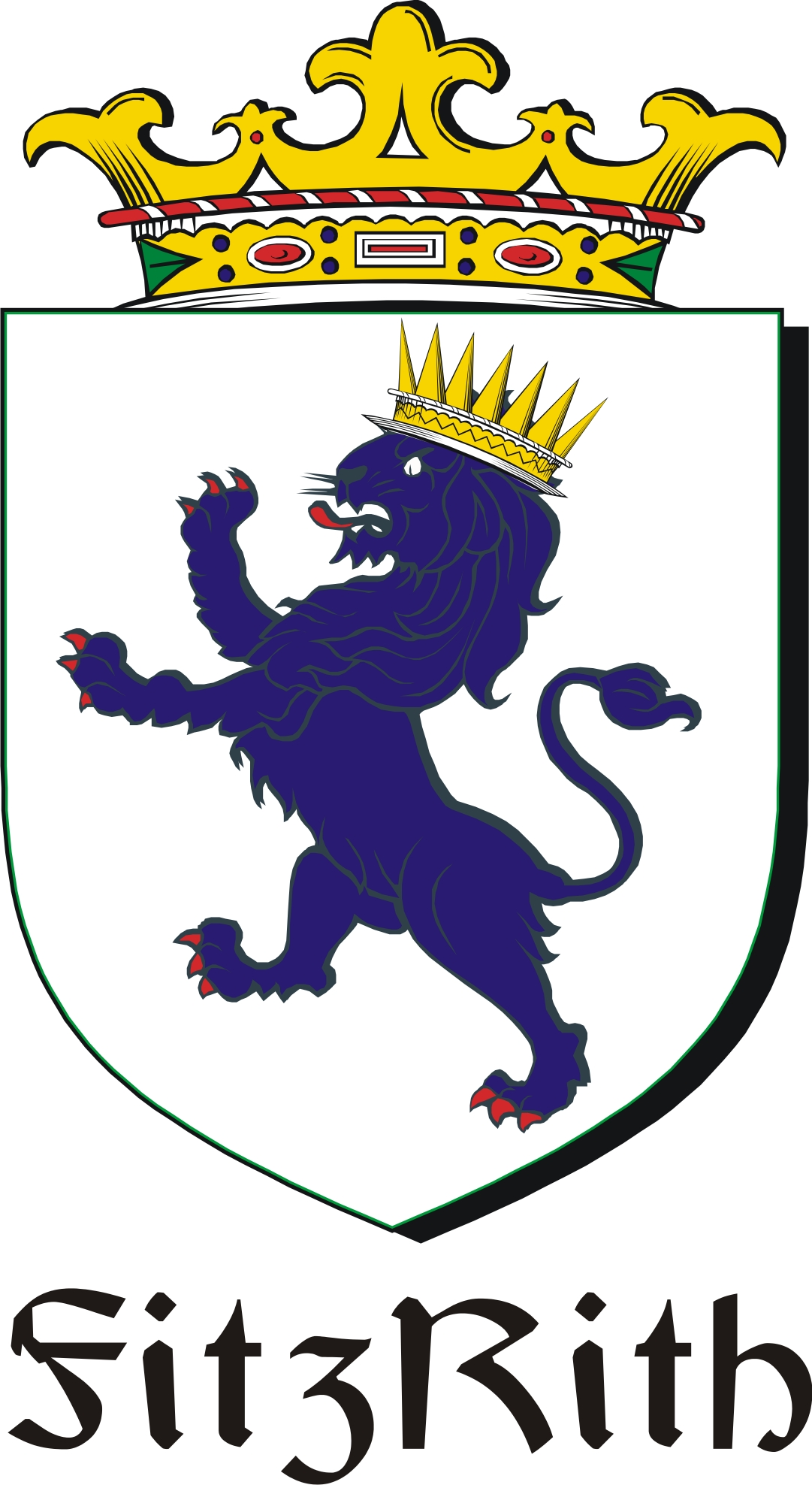Thumbnail FitzRith Family Crest / Irish Coat of Arms Image Download