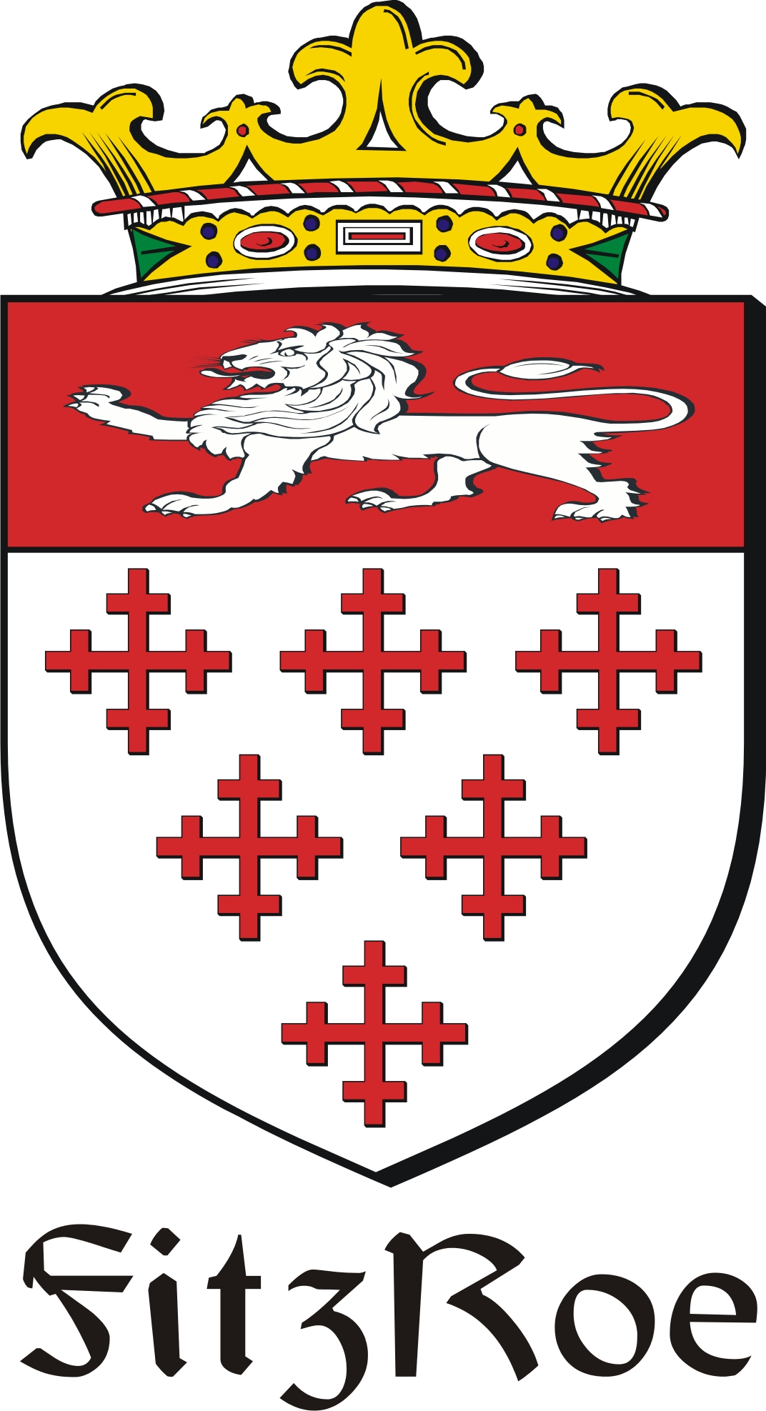 Thumbnail FitzRoe Family Crest / Irish Coat of Arms Image Download