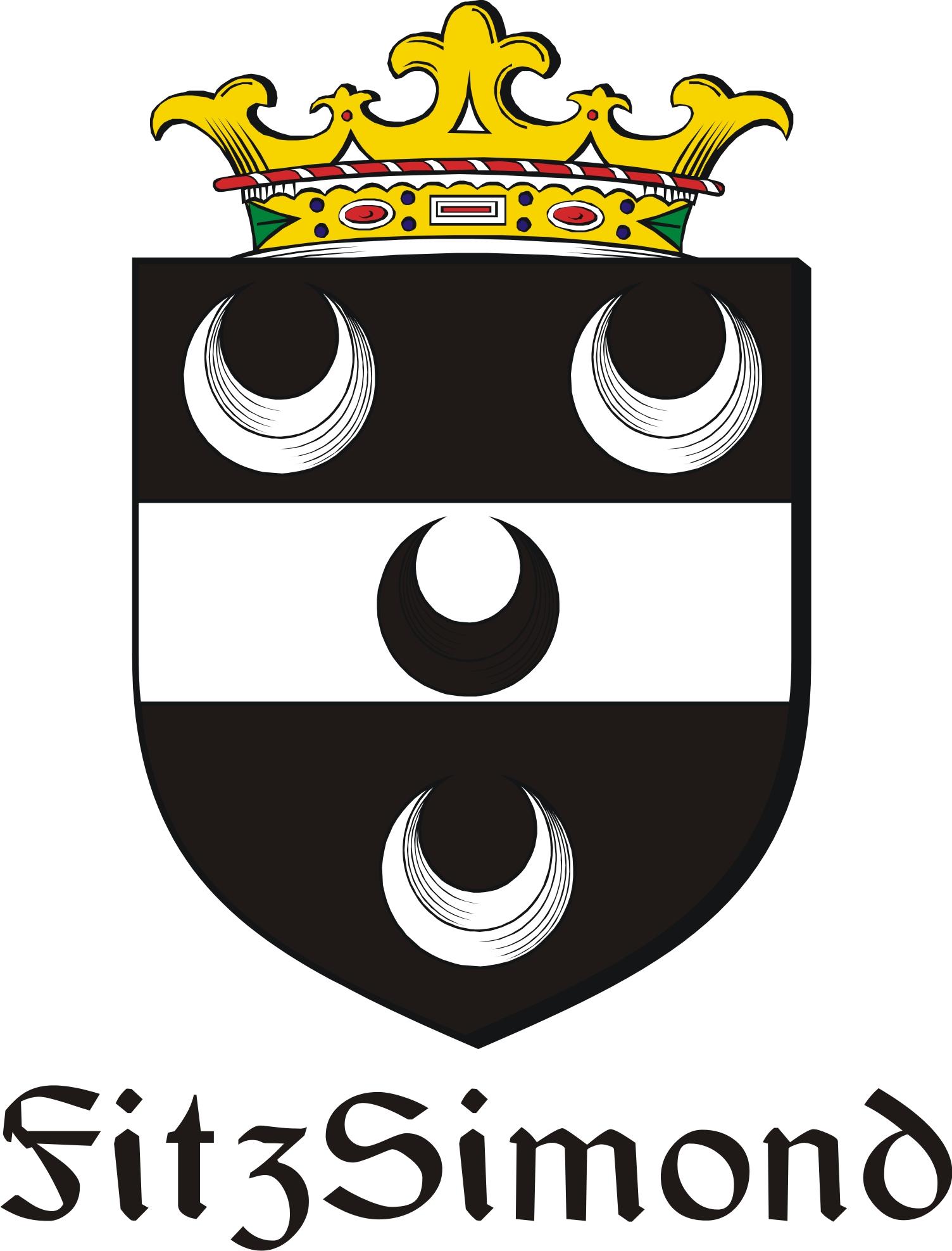Thumbnail FitzSimond Family Crest / Irish Coat of Arms Image Download