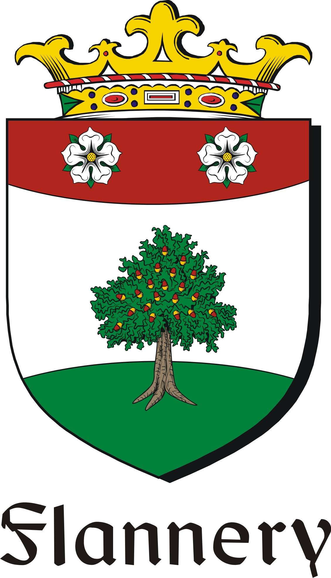 Thumbnail Flannery Family Crest / Irish Coat of Arms Image Download