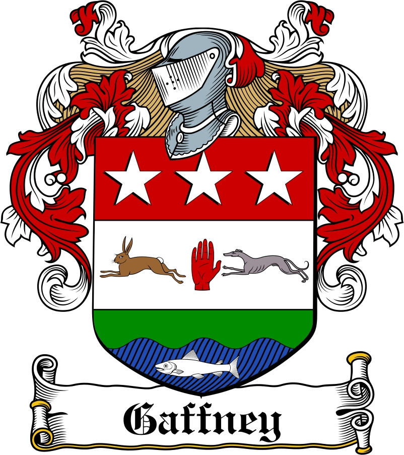 Thumbnail Gaffney Family Crest / Irish Coat of Arms Image Download