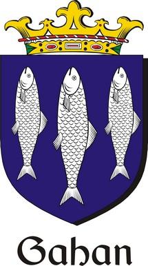 Thumbnail Gahan Family Crest / Irish Coat of Arms Image Download