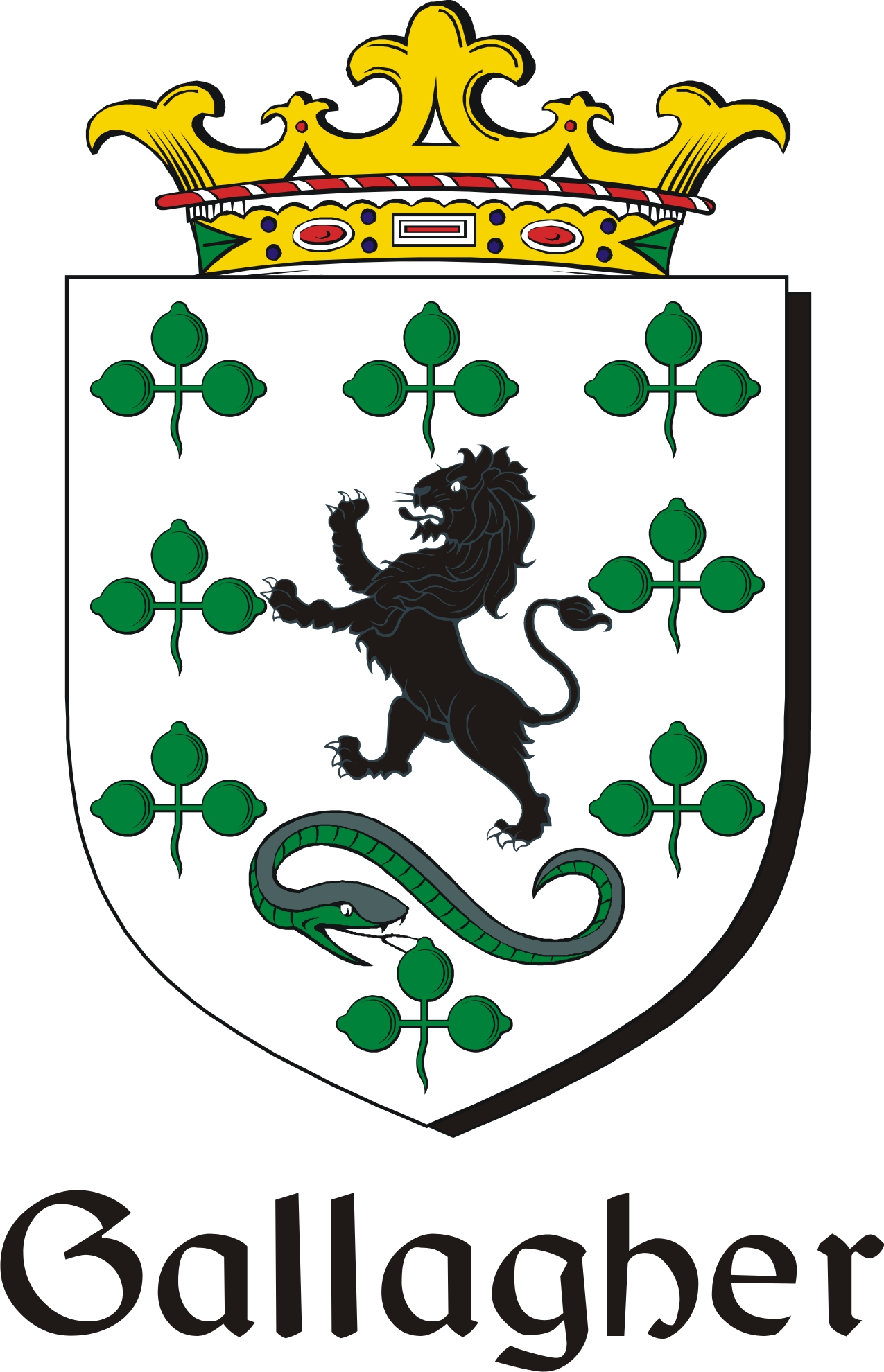 Thumbnail Gallagher Family Crest / Irish Coat of Arms Image Download