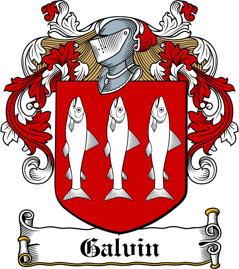 Thumbnail Galvin Family Crest / Irish Coat of Arms Image Download