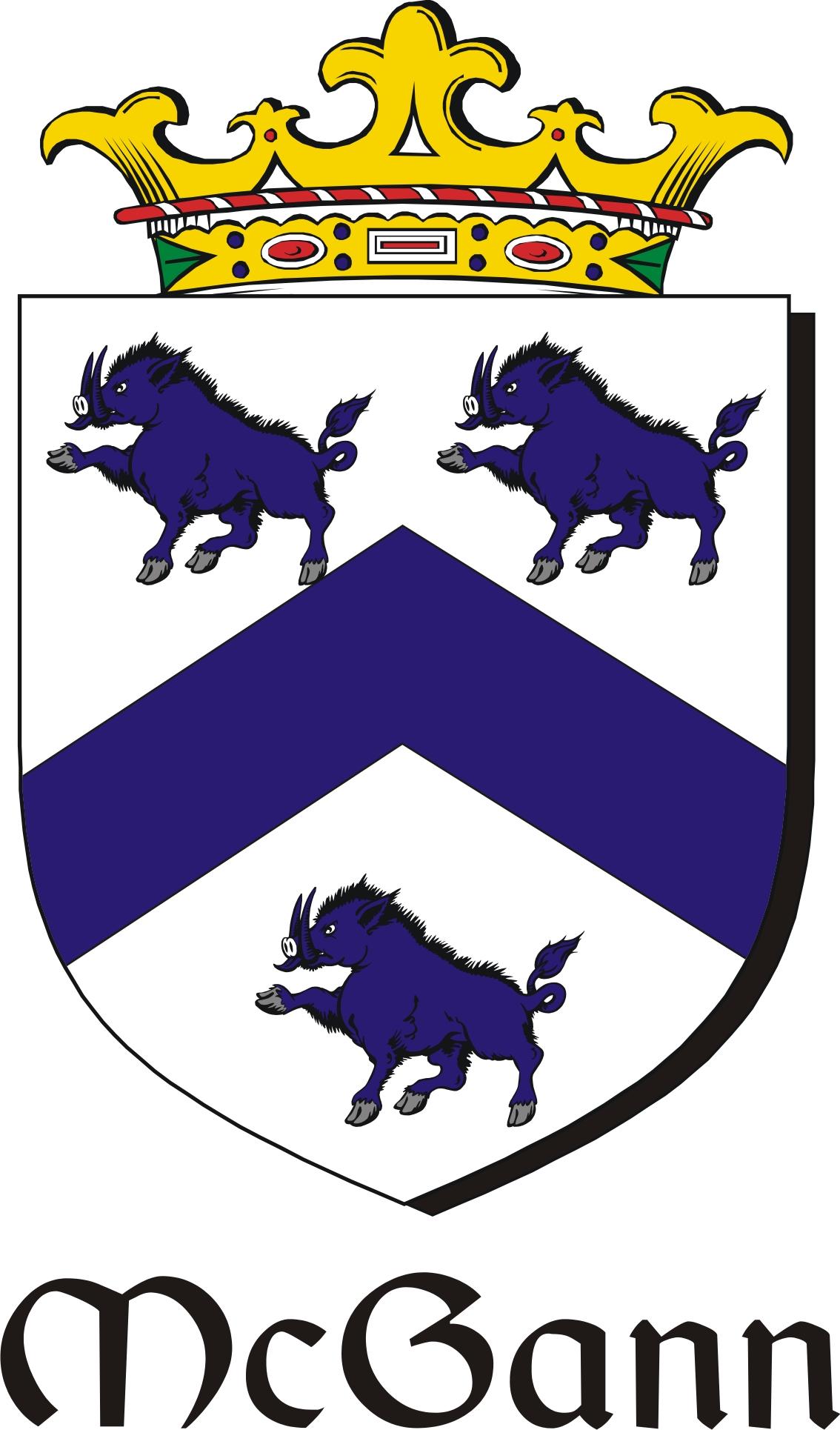 Thumbnail Gann-Mc Family Crest / Irish Coat of Arms Image Download