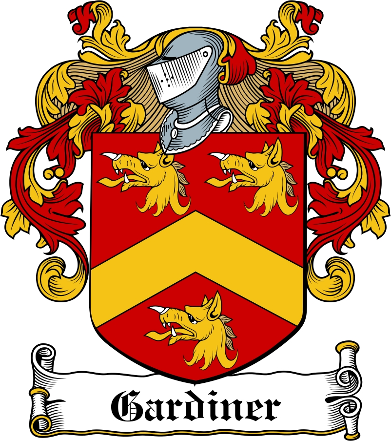 Thumbnail Gardiner Family Crest / Irish Coat of Arms Image Download