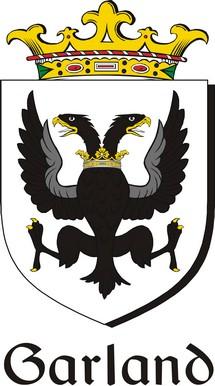 Thumbnail Garland Family Crest / Irish Coat of Arms Image Download