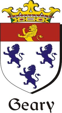 Thumbnail Geary Family Crest / Irish Coat of Arms Image Download