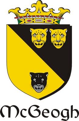 Thumbnail Geogh-Mc Family Crest / Irish Coat of Arms Image Download