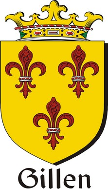 Thumbnail Gillen Family Crest / Irish Coat of Arms Image Download