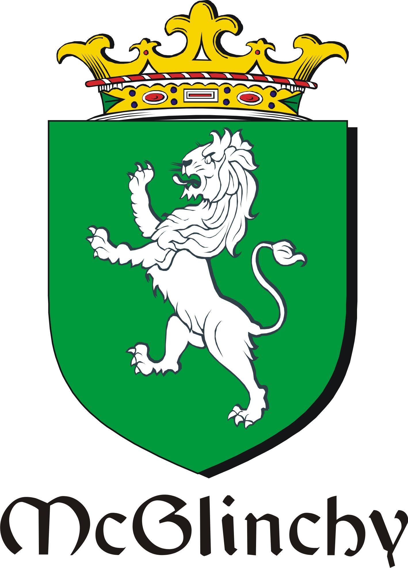 Thumbnail Glinchy-Mc Family Crest / Irish Coat of Arms Image Download