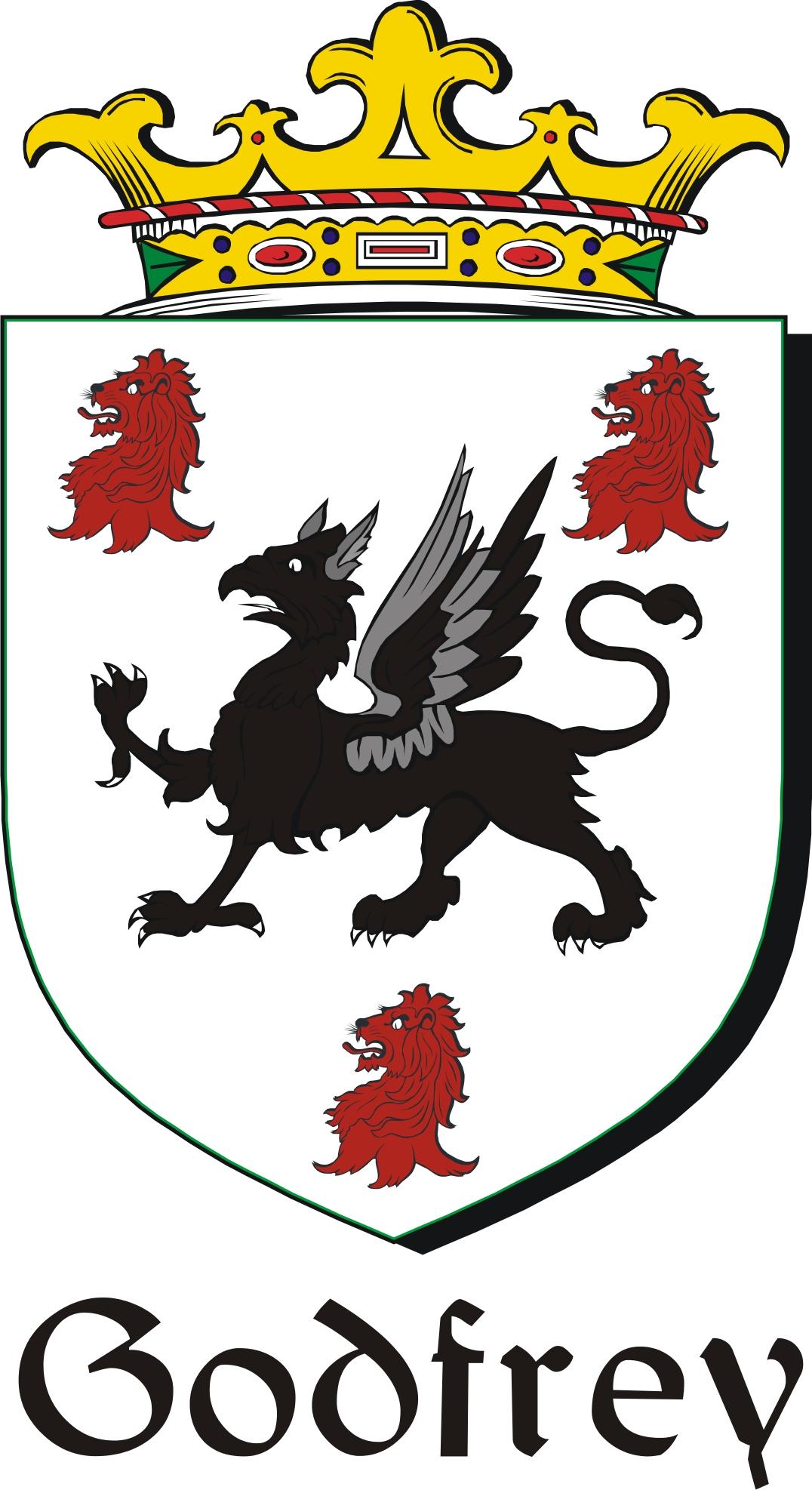 Thumbnail Godfrey Family Crest / Irish Coat of Arms Image Download