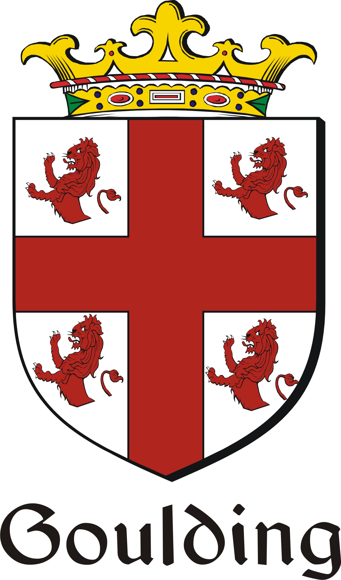 Thumbnail Goulding Family Crest / Irish Coat of Arms Image Download