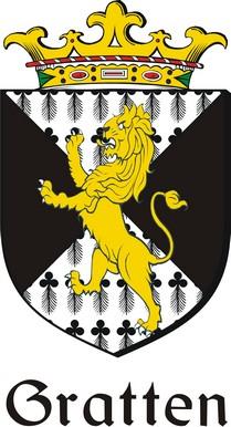 Thumbnail Gratten Family Crest / Irish Coat of Arms Image Download