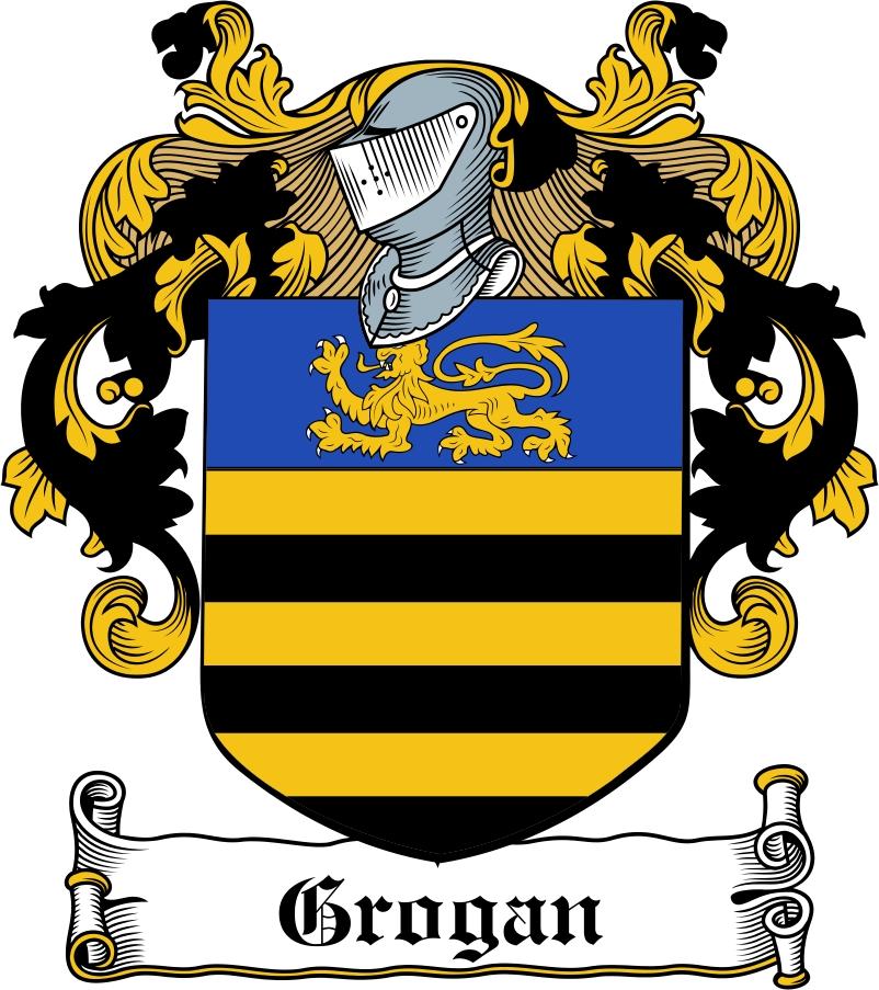 Thumbnail Grogan Family Crest / Irish Coat of Arms Image Download